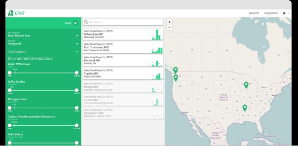 Environmental Paper Assessment Tool - Buyers Screenshot